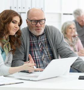 Technologijos, sujungiančios kartas: ką prie vieno stalo veikia studentai ir pensininkai?