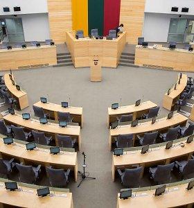 Kas slypi už idėjos mažinti Seimo narių skaičių?
