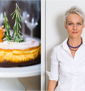 Nidos receptas: šventinis sūrio pyragas su marcipanais
