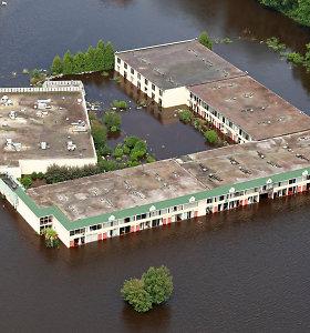 Uragano Florence sukelti potvyniai iš oro
