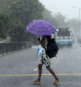 Šri Lankoje per audras ir purvo nuošliaužas žuvo 5 žmonės, tūkstantis gyventojų neteko pastogės
