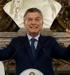 Argentinos prezidentas M.Macri patyrė skaudų pralaimėjimą pirminiuose rinkimuose