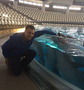 """Mano kelias. Delfinų treneris M.Lukošius: """"Kartą per delfinų pasirodymą patelė pradėjo gimdyti"""""""