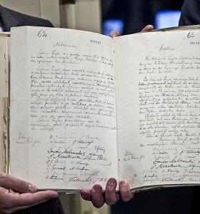Vasario 16-osios Akto faksimilė bus eksponuojama Nacionalinėje Martyno Mažvydo bibliotekoje
