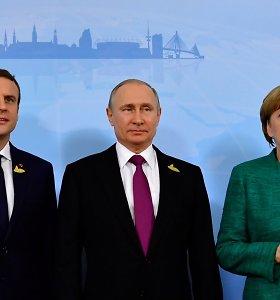 Keturių šalių lyderiai paragino išsaugoti paliaubas Sirijos Idlibe