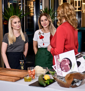 Į kulinarinę laidą su tėčiu ir seserimi atvykusi Milita Daikerytė prisipažino nevalganti mėsos