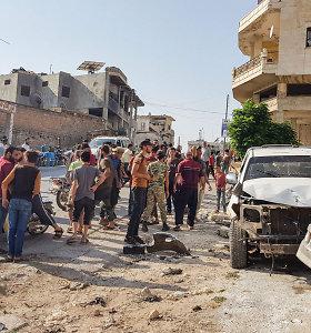"""JT: naujos kovos Sirijos Idlibo provincijoje išprovokavo """"absoliučią paniką"""""""