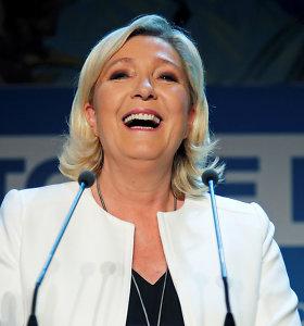 M.Le Pen dalyvaus 2022-ųjų Prancūzijos prezidento rinkimuose
