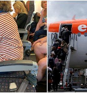 Audra tviteryje: pigios avialinijos apkaltintos keleivę skraidinusios kėdėje be atlošo
