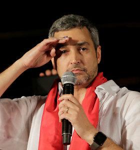Paragvajaus prezidento rinkimus laimėjo valdančiųjųkandidatas M.Abdo Benitezas