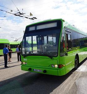 Kauno troleibusų parką papildė olandus iki tol vežioję 7 troleibusai
