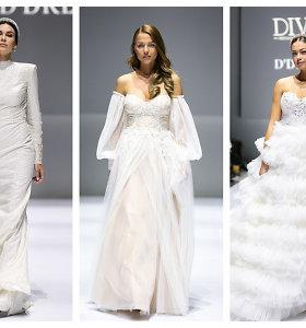 Žinomos moterys užvaldė podiumą: pasipuošė elegantiškomis vestuvių suknelėmis