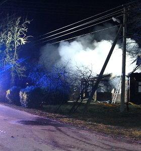 Per gaisrą Pašilių antrame kaime žuvo žmogus