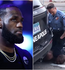 L.Jamesas įtūžęs ir piktas po to, kai policininkas nužudė suimtą juodaodį