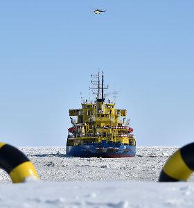 Prie Norvegijos krantų dreifuojantis Rusijos ledlaužis pasiuntė nelaimės signalą