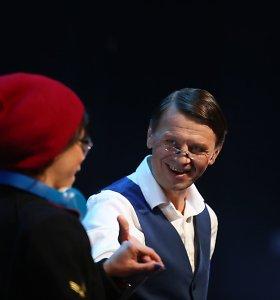 "Rolando Kazlo režisuotas spektaklis ""Pamoka"""