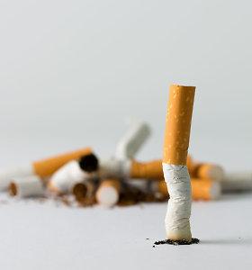 Vienas gyventojas pernai įsigijo 64 legalius cigarečių pakelius