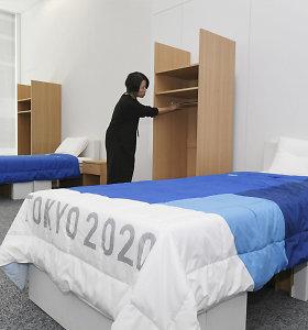 Lietuvos olimpiečiai Tokijuje miegos ant kartono lovų