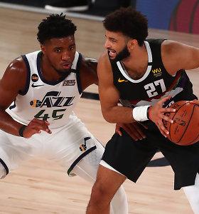 """""""Nuggets"""" ir """"Jazz"""" lyderių akistata – rezultatyviausia NBA atkrintamųjų istorijoje"""