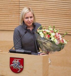 Parlamentarams antrą kartą pasiūlyta atleisti Seimo kanclerę D.Raudonienę