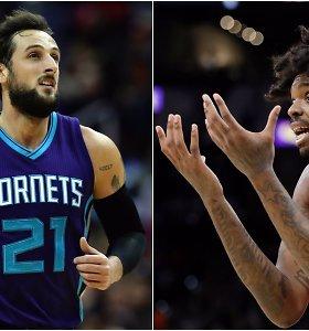 """NBA apžvalga: neįtikėtinas italo gudrumas ir šortus pametęs """"Raptors"""" aukštaūgis"""