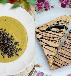 auGalingas pirmadienis: cukinijų sriuba su lęšiais ir pusryčių skrebučiai
