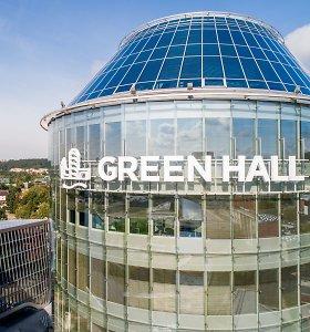 "Nebeliko ir ""Barclays"" logotipo – ant biurų komplekso iškilo ""Green Hall"""