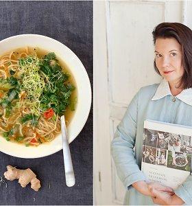"""Renatos Ničajienės """"Sezoninė virtuvė"""": greitai paruošiama kiniška antigripino sriuba"""