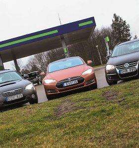 "15min eksperimentas Vilniuje: ar ""Tesla"" padėtų aplenkti Ukmergės g. spūstį?"