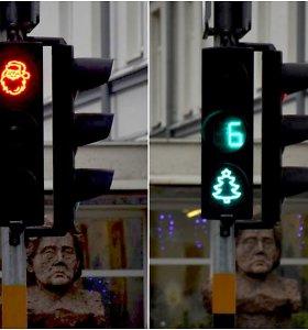 Panevėžyje – neįprastas šviesoforas: sveikina su artėjančiomis šventėmis