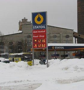 Įvedus eurą Estijoje nežymiai ūgtelėjo degalų kainos