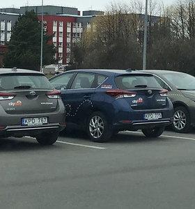 """Ką reiškia toks """"CityBee"""" automobilių desantas prie dviejų Kauno ligoninių?"""