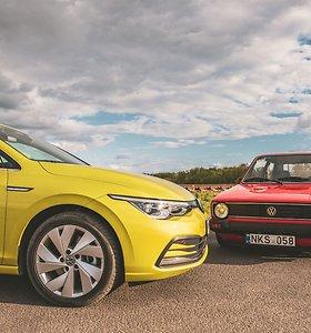 """Aštuntos kartos """"VW Golf"""" susitikimas su proseneliu"""