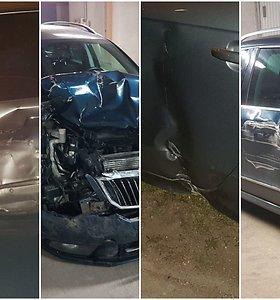 """Naktį namo su """"Škoda"""" keliavęs vilnietis automobilius knežino kaip Velykų margučius"""