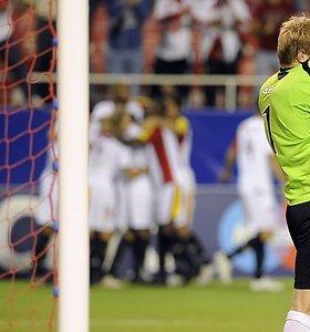Nesėkme pažymėtas lietuvio vartininko debiutas UEFA Čempionų lygoje (nuotraukos, video)