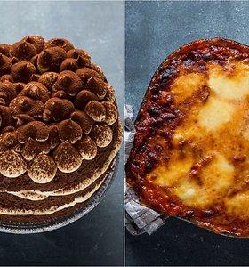 Itališkai savaitgalio vakarienei – baklažanai su parmezanu ir nuostabus tiramisu tortas