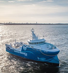 Klaipėdoje pastatytas mokslinių tyrimų laivas