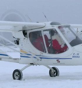 """""""Kylam"""": vaikus aplankė skraidantis Kalėdų Senelis"""