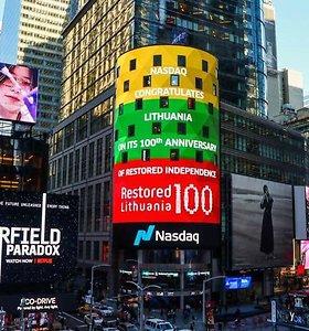 Lietuvos trispalvė nušvietė Niujorką, Tel Avivą, Varšuvą ir Taliną