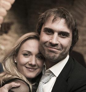 Mantas Jankavičius su žmona Ieva Simniškyte-Jankavičiene