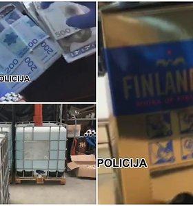 Policija sulaikė skandinavams padirbtą degtinę tiekusią gaują – mėnesinės jų pajamos siekė 1,5 mln. eurų