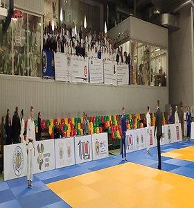 Lietuvos dziudo čempionate sportininkai protestuoja prieš prezidentą