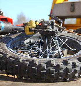 Avarijoje Klaipėdoje stipriai sužalotas motociklo vairuotojas