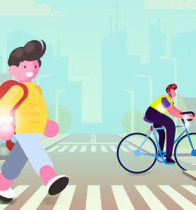 Paruoštukas tėvams: šį savaitgalį pasikalbėkite su vaikais apie saugų eismą