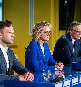 Laisvės partijos spaudos konferencija po pirmo Seimo rinkimų turo