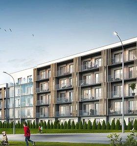 """Bendrovė Merko statyba tęsia """"Fizikų namų"""" projektą – kyla dar vienas gyvenamasis namas"""