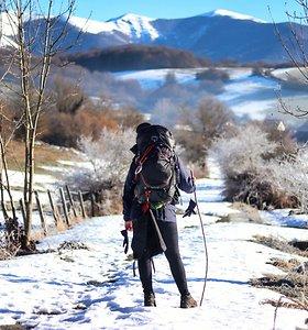 Eglė ir Barbora Šv.Jokūbo keliu ėjo ne sezono metu – žiemą
