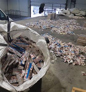 Kontrabandos tendencijas: beveik pusė nelegalių rūkalų sulaikyta prie sienos su Rusijos Kaliningrado sritimi
