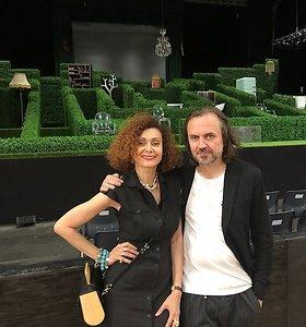 """Oskarą Koršunovą į Avinjono festivalį atlydėjo mylimoji Alexandra Kremer: """"Jis – genijus"""""""