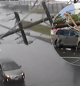 Pradėjus virsti elektros stulpams miestelyje kilo chaosas – ne visiems pavyko pasprukti